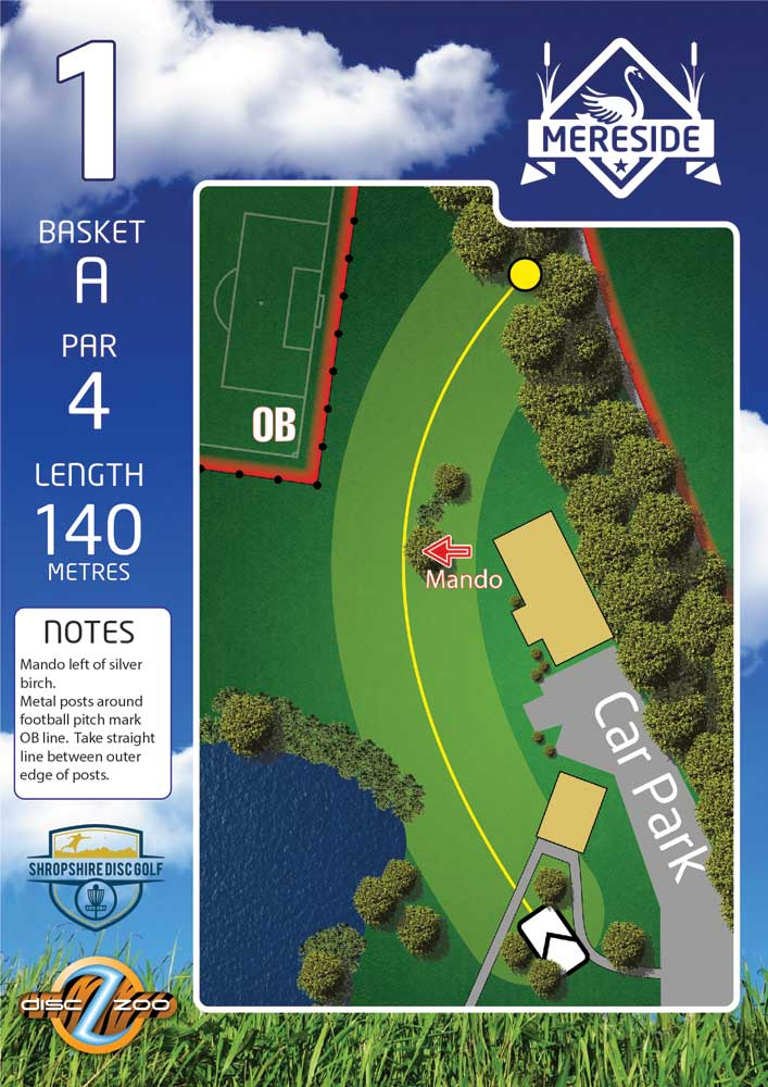 Mereside Blue 18 Course - Hole 1