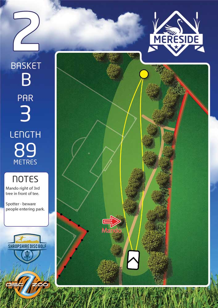 Mereside Blue 18 Course - Hole 2
