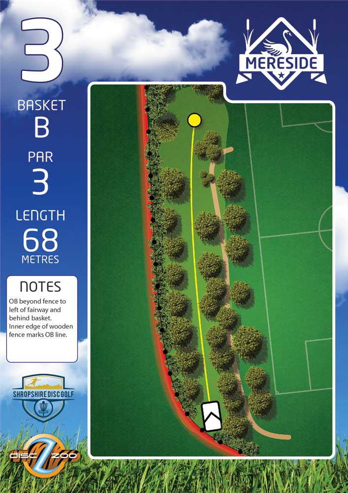 Mereside Blue 18 Course - Hole 3