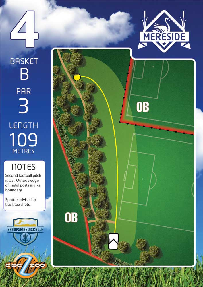 Mereside Blue 18 Course - Hole 4