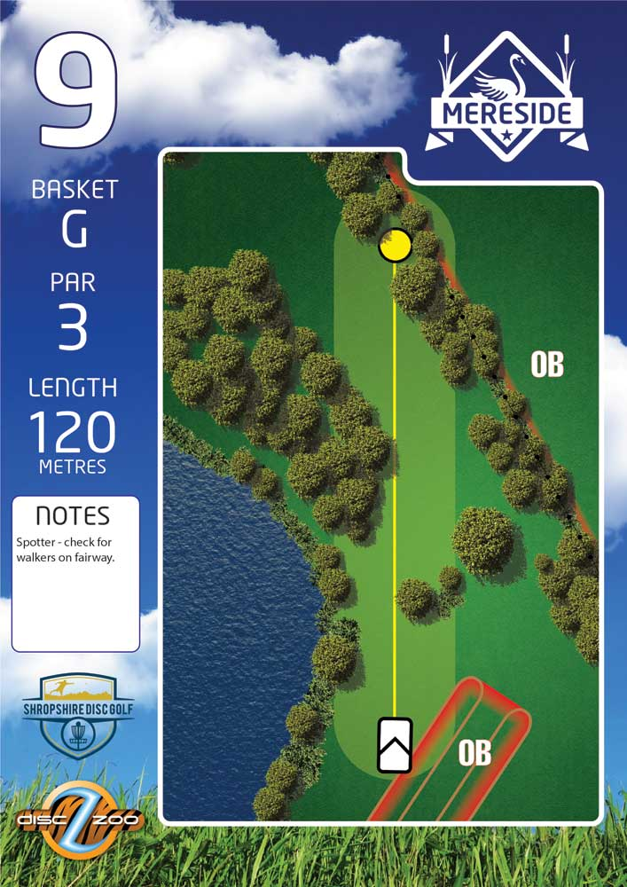 Mereside Blue 18 Course - Hole 9