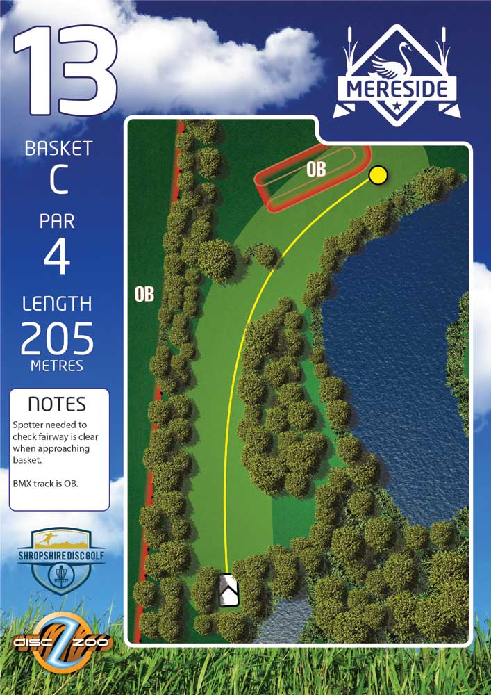 Mereside Blue 18 Course - Hole 13