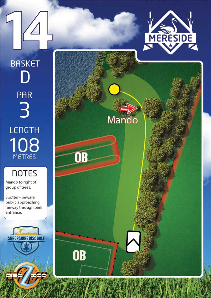 Mereside Blue 18 Course - Hole 14