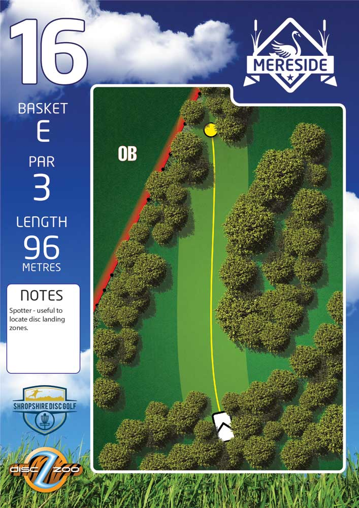 Mereside Blue 18 Course - Hole 16