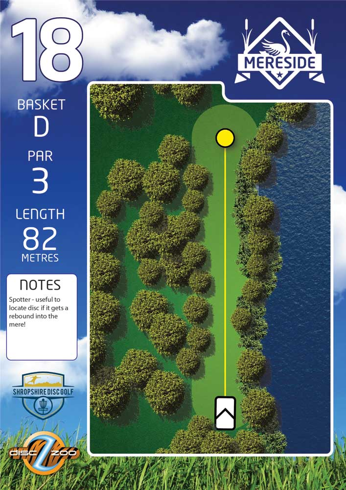 Mereside Blue 18 Course - Hole 18